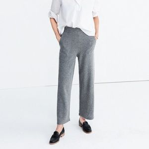 Madewell Wool Wide Leg Sweater Pants